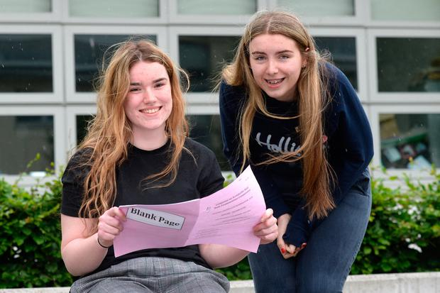 Kildare Town Community College students Saoirse Masterson and Meg Donnelly. Photo: Justin Farrelly.