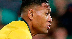 DANGERMAN: Australia's Israel Folau in action against Ireland during the first Test in Brisbane last Saturday. Photo/Tertius Pickard/AP
