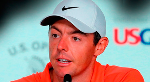 READY FOR ACTION: Rory McIlroy at yesterday's press conference prior to today's start of the US Open at Shinnecock Hills, Southampton, New York. Photo: Getty Images