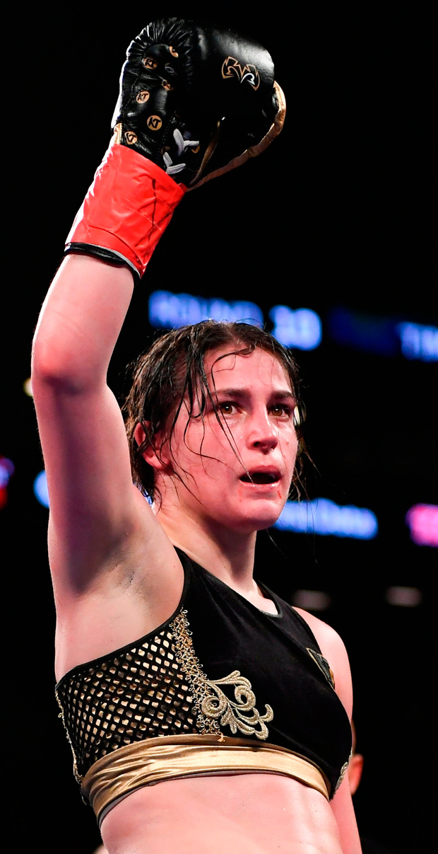 HOLDER: Katie Taylor. Photo: Stephen McCarthy/Sportsfile