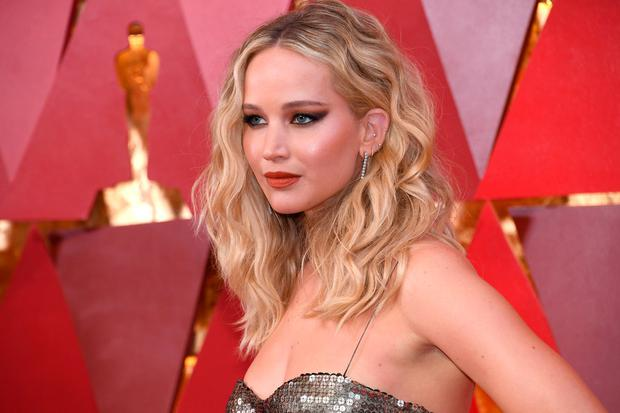 Jennifer Lawrence at the Oscars. Photo: Getty Images