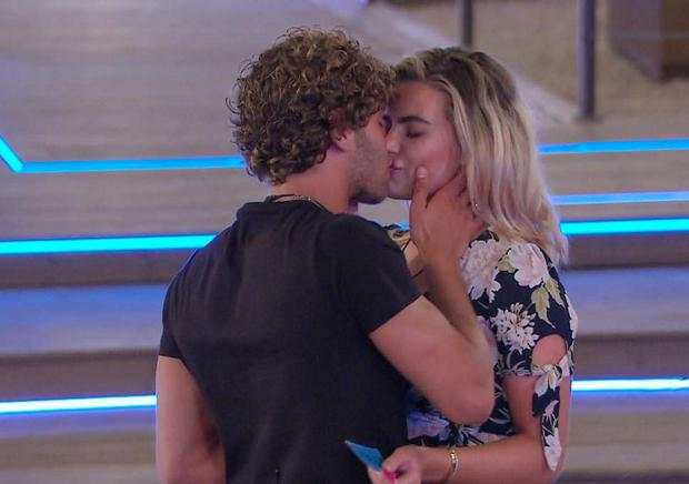 Eyal kissed Megan before she chose him over Alex for the recoupling. PIC: Love Island/3e