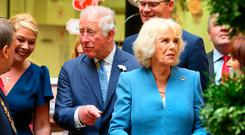 HRH Prince Charles and Duchess of Cornwall, Camilla pictured during their visit to the English Market in Cork City. Picture: Frank McGrath
