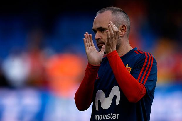 Andres Iniesta plays the first game in his final World Cup tonight. Photo: Jose Breton/NurPhoto via Getty Images