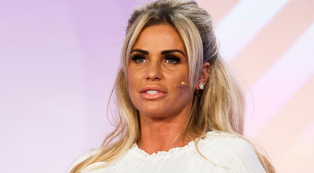 Katie Price speaks at the Festival of Marketing at Tobacco Dock on October 6, 2016 in London, England. (Photo by Tristan Fewings/Getty Images)