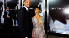Will Smith and Jada Pinkett Smith attend Columbia Pictures screening of Concussion at Regency Village Theatre on November 23, 2015 in Westwood, California. (Photo by Frazer Harrison/Getty Images)
