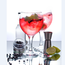 Pink gin, the drink of the summer. Stock photo