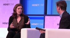 Claire Hughes Johnson, COO of Stripe, speaking to Adrian Weckler at MoneyConf 2018