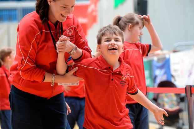 Zach O'Riordan from St. Paul's School in Montenotte Co Cork at the Special Olympics in Blanchardstown. Photo: Justin Farrelly