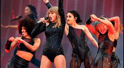 Taylor Swift on stage during her Reputation Tour at Croke Park. Photos: Steve Humphreys