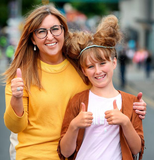 Fans Tracey Lynch and Sarah Corbett Lynch (11) from Limerick at the concert. Photo: Steve Humphreys