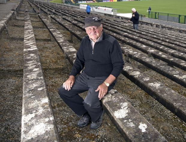 Caretaker Peter Murray takes a break from the final preparations of Dr Hyde Park yesterday ahead of tomorrow's Connacht SFC final between Roscommon and Galway. Photo: Tony Gavin