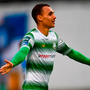 Graham Burke of Shamrock Rovers celebrates after scoring his side's second goal Photo: Sportsfile