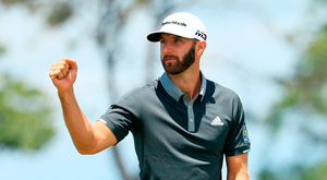 TOP DOG: Dustin Johnson leads the way at Shinnecock Hills after hitting consecutive rounds under par at the US Open Photo: Getty