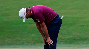 DEJECTION: Graeme McDowell reacts to a missed putt Pic:AP