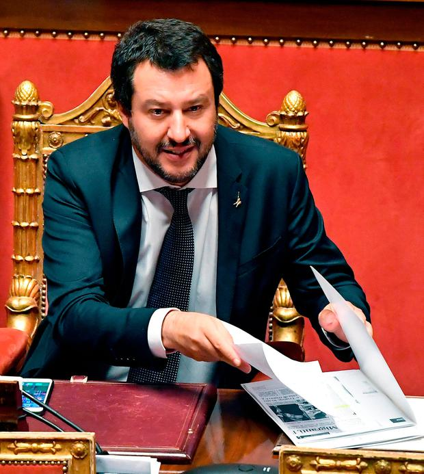 Italian Interior Minister Matteo Salvini. Photo: AP