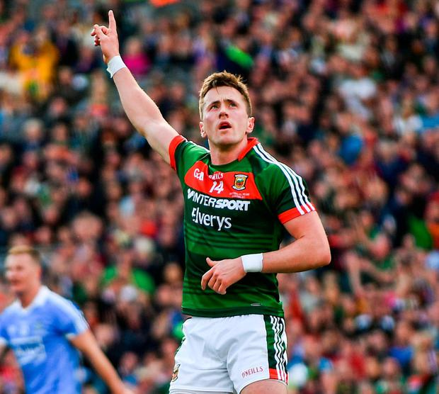 Mayo's Cillian O'Connor is destined to become the top scorer in championship history and continues to defy his critics. Photo: Sam Barnes/Sportsfile