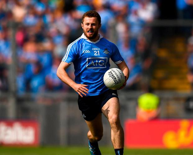 The return from injury of Jack McCaffrey gives Dublin yet another dangerous attacking weapon. Photo: Stephen McCarthy/Sportsfile