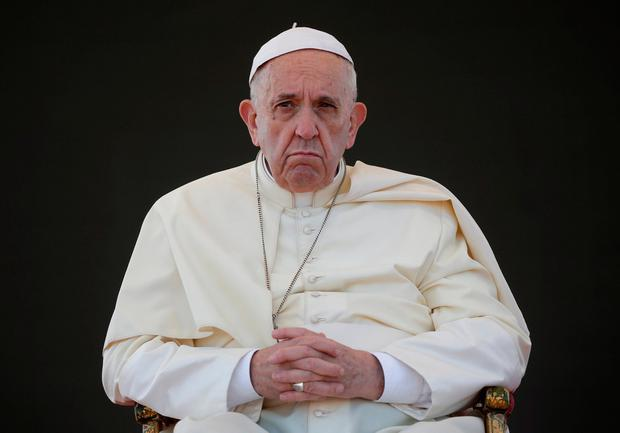 APATHY: Pope Francis's visit Pic: Reuters