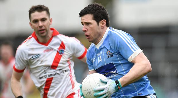 Marc Ó Sé and Sean Cavanagh took each other on for the final time in January