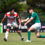 17 June 2018; Harry Byrne of Ireland in action against Ryuga Hashimoto of Japan during the World Rugby U20 Championship 2018 11th Place Play-Off match between Ireland and Japan at Stade de la Méditerranée in Béziers, France. Photo by Alexandre Dimou/World Rugby via Sportsfile