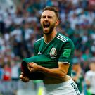 Soccer Football - World Cup - Group F - Germany vs Mexico - Luzhniki Stadium, Moscow, Russia - June 17, 2018 Mexico's Miguel Layun reacts REUTERS/Kai Pfaffenbach