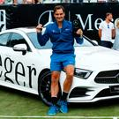 Roger Federer celebrated his return to the top of the world rankings by winning the Mercedes Cup in Stuttgart. Photo: REUTERS/Ralph Orlowski