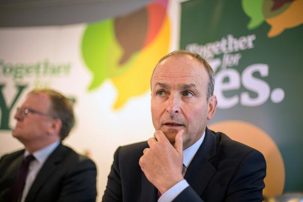 Fianna Fáil's Micheál Martin accused Fine Gael and Sinn Féin of attempts to manufacture an election. Photo: Mark Condren