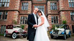 Undated Hello! handout photo of Beth Tweddle and her husband Andy Allen on their wedding day. PRESS ASSOCIATION Photo: Hello!/PA Wire