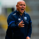 10 June 2018; Waterford manager Derek McGrath during the Munster GAA Hurling Senior Championship Round 4 match between Limerick and Waterford at the Gaelic Grounds in Limerick. Photo by Ramsey Cardy/Sportsfile