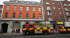 Members of Dublins Fire Brigade on Capel Street,Dublin. Photo: Gareth Chaney Collins