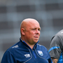 10 June 2018; Waterford manager Derek McGrath, left, and selector Dan Shanahan during the Munster GAA Hurling Senior Championship Round 4 match between Limerick and Waterford at the Gaelic Grounds in Limerick. Photo by Ramsey Cardy/Sportsfile