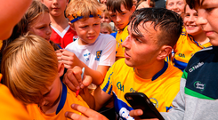 Peter Duggan signs autographs for supporters in Cusack Park where the electric atmosphere was typical of the success of the Munster round-robin series Photo: Ray McManus/Sportsfile