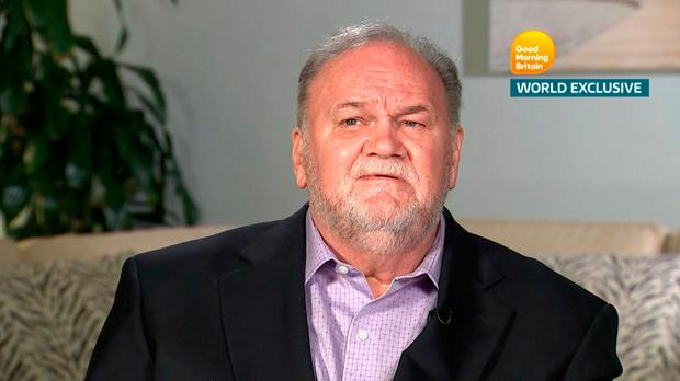 Thomas Markle spoke on ITV's 'Good Morning Britain' about his daughter Meghan marrying Prince Harry. Picture: Reuters