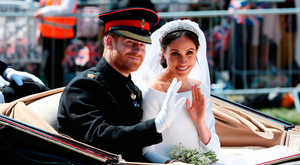 Thomas Markle spoke on ITV's 'Good Morning Britain' about his daughter Meghan marrying Prince Harry, top. Picture: Getty