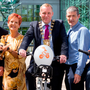 Councillors at the launch of the BleeperBike scheme
