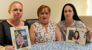 Murder victim Olivia Dunlea's sister Anne, mother Ann and sister Amanda