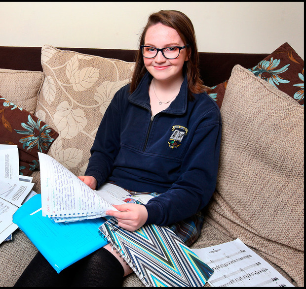 Exam time: Aisling Fennell can't wait to get away after the Leaving Cert Pic: Steve Humphreys