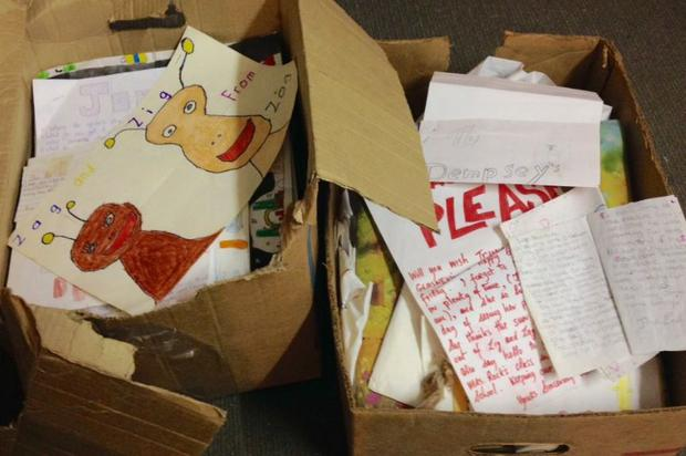 Double Z have shared some of the letters sent to Dempsey's Den by children in 1988. PIC: Double Z/Twitter