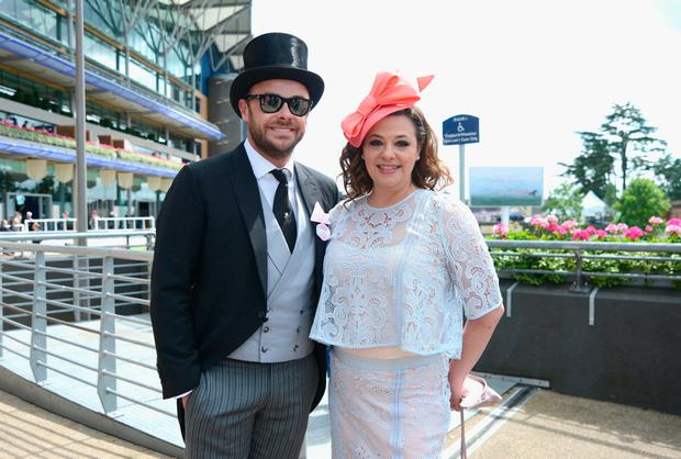 Anthony McPartlin and Lisa Armstrong attend day 2 of Royal Ascot at Ascot Racecourse on June 15, 2016 in Ascot, England. (Photo by Kirstin Sinclair/Getty Images for Ascot Racecourse)