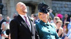 WINDSOR, UNITED KINGDOM - MAY 19: MIke Tindall and Zara Tindall arrive at St George's Chapel at Windsor Castle before the wedding of Prince Harry to Meghan Markle on May 19, 2018 in Windsor, England. (Photo by Gareth Fuller - WPA Pool/Getty Images)