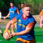 Perpignan's Irish flyhalf Paddy Jackson, former Ulster player, takes part in a training session with teammates on June 19, 2018 in Perpignan, southwestern France. / AFP PHOTO / RAYMOND ROIGRAYMOND ROIG/AFP/Getty Images