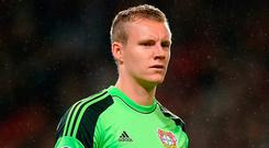 Arsenal have signed goalkeeper Bernd Leno from Bayer Leverkusen on a long-term contract. Martin Rickett/PA Wire.