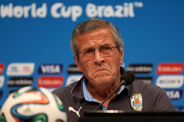 Uruguay manager Oscar Tabarez. Photo: PA
