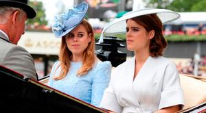 Prince Charles, Prince of Wales (L), Princess Beatrice of York (C) and Princess Eugenie of York attend Royal Ascot Day 1 at Ascot Racecourse on June 19, 2018 in Ascot, United Kingdom. (Photo by Chris Jackson/Getty Images)