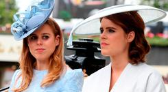 Princess Beatrice of York (L) and Princess Eugenie of York attend Royal Ascot Day 1 at Ascot Racecourse on June 19, 2018 in Ascot, United Kingdom. (Photo by Chris Jackson/Getty Images)