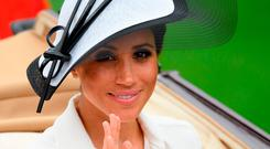 Meghan, Duchess of Sussex attends day one of Royal Ascot at Ascot Racecourse on June 19, 2018 in Ascot, United Kingdom. Royal Ascot is Britain's most valuable race meeting, attracting many of the world's finest racehorses to compete for more than £7.3m in prize money. (Photo by Leon Neal/Getty Images)