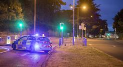 Gardai seal off Sarsfield road where a serious road collision took place Picture:Arthur Carron