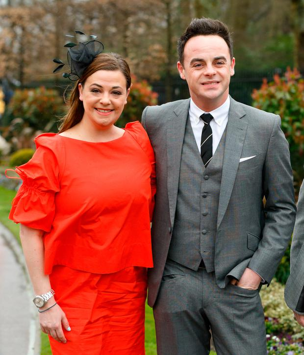 Lisa Armstrong and Anthony McPartlin attend The Prince's Countryside Fund Raceday at Ascot Racecourse on March 29, 2015 in London, England. (Photo by Max Mumby/Indigo/Getty Images)