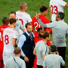 England manager Gareth Southgate celebrates after the match